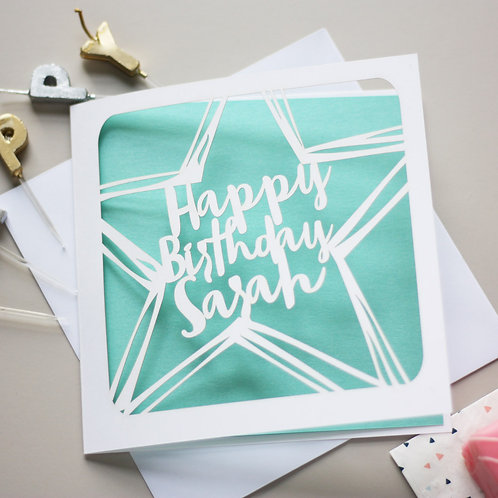 Personalised Star Birthday Card
