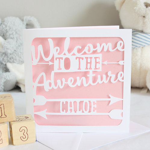 Personalised New Baby Adventure Card