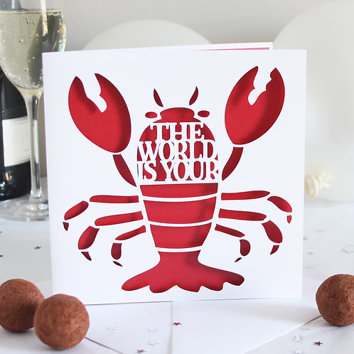 The World is Your Lobster Card