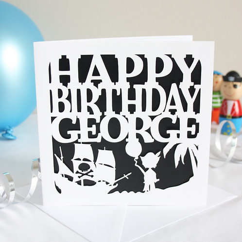 Personalised Pirates Birthday Card