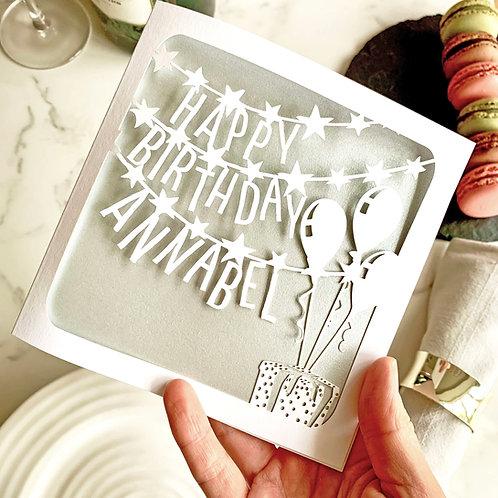 Personalised Banner Birthday Card