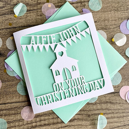 Personalised Christening Card