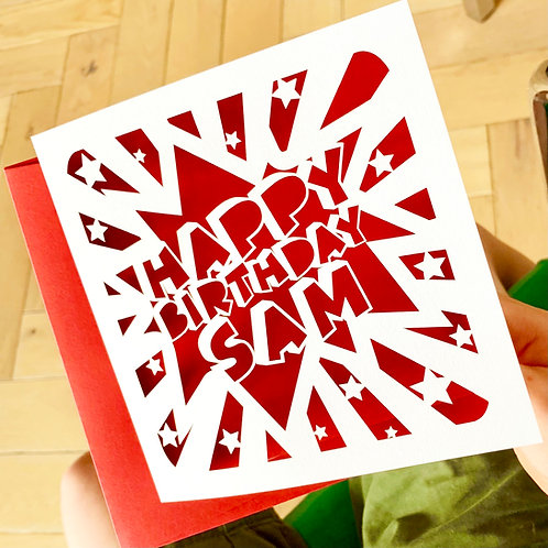 Personalised Comic Birthday Card