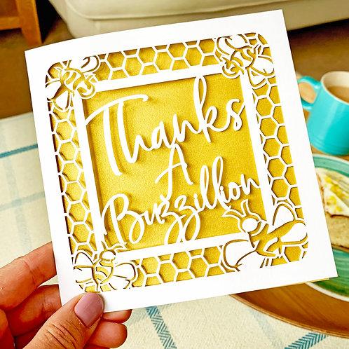 Thanks a Buzzillion Card