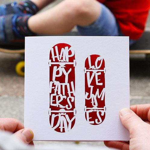Skateboard Father's Day Card