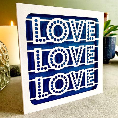 Love Love Love Card
