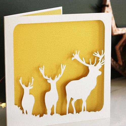 Stags Christmas Card