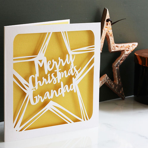 Personalised Christmas Star Card