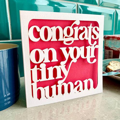 Tiny Human New Baby Card