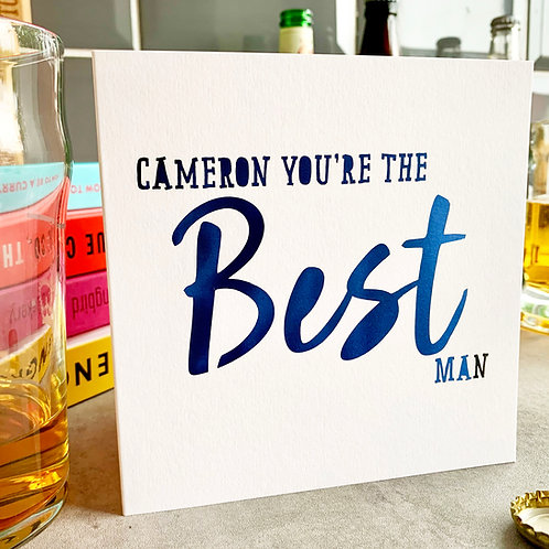 Personalised Best Man Thank You Card