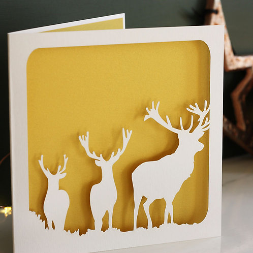 Stags Christmas Card