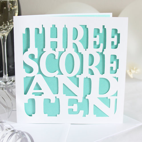 Three Score and Ten Birthday Card