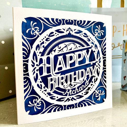 Personalised Papercut Birthday Card