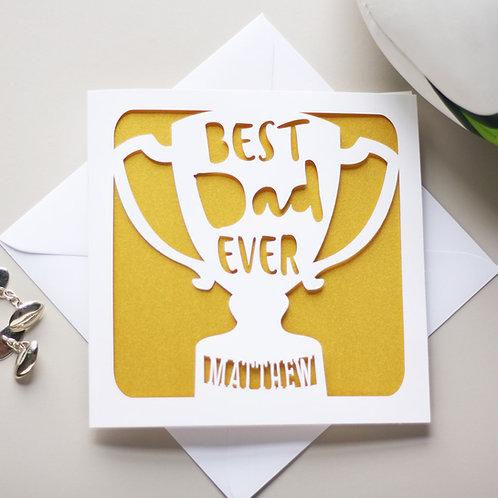 Personalised Father's Day Trophy Card