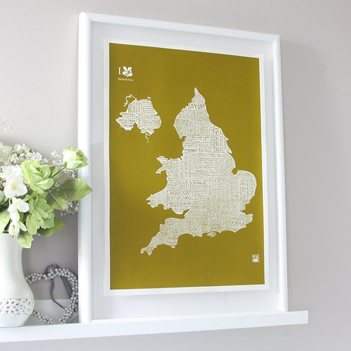 National Trust Map Print
