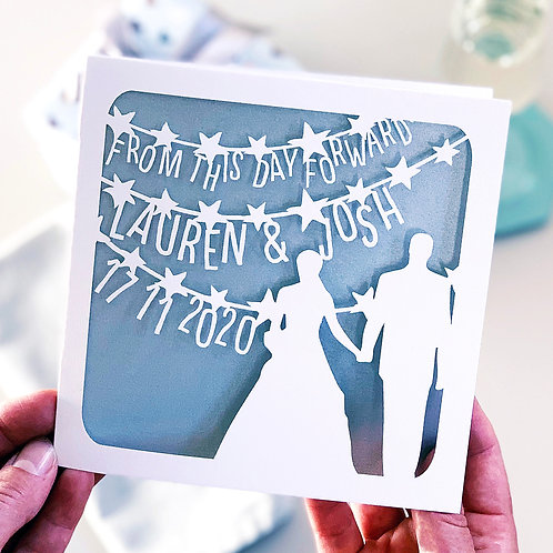 From This Day Personalised Wedding Card