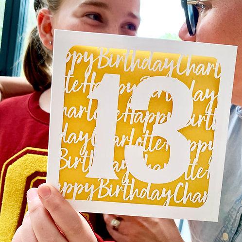 Personalised Age Birthday Card