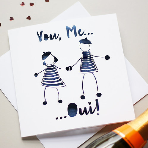 You Me Oui Card