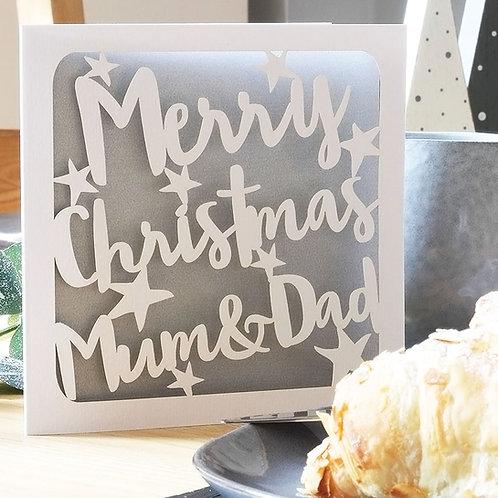 Personalised Christmas Stars Card