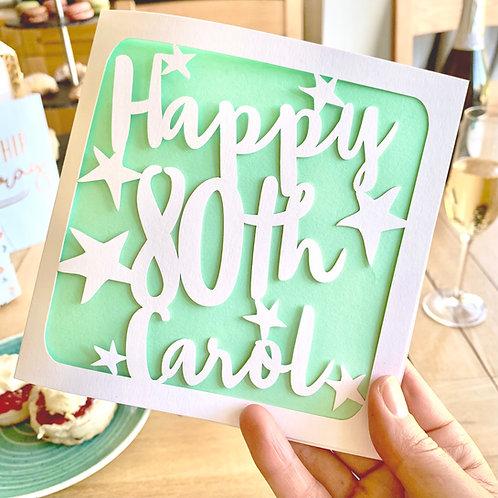 Personalised 80th Birthday Card