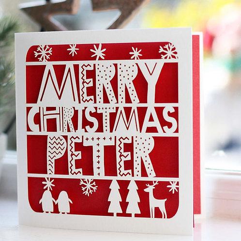 Personalised Scandi Christmas Card