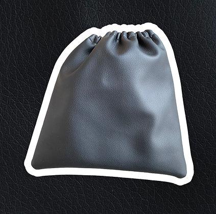 Housses étriers simili-cuir noires