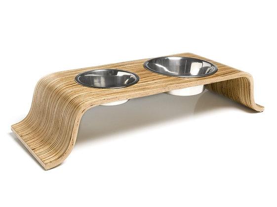 Bent wood Raised Dog bowls