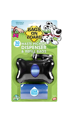 CASE/6 UNITS - Black Bone Pick-Up Bag Dispenser