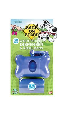 CASE/6 UNITS - Blue Bone Pick-Up Bag Dispenser