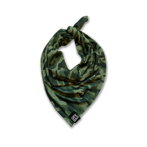 Square Jersey  Bandana - Multi-Use Face Cover - Green Camo