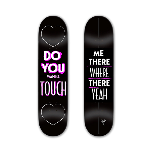 GFK Bar: Typography Joan Jet Lyrics - Hand-painted