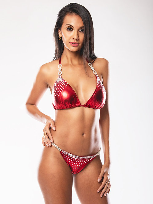 Inspire by Marcia Escobar - Red Sparkles Bikini