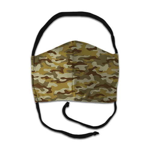 Face Mask - Brown Camo Print