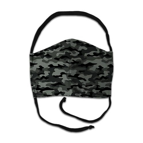Face Mask - Black Camo Print