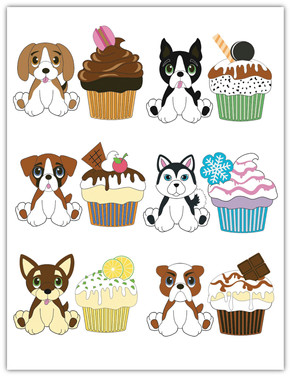 Dogs and cupcakes