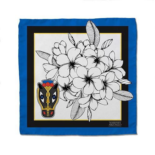 Silk Scarf - MR Blue - 50cm x 50cm