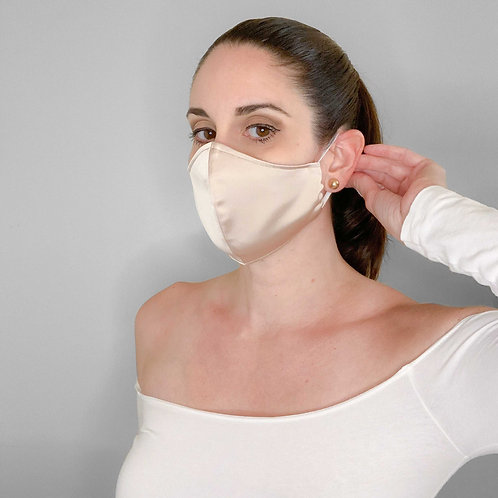 Washable and reusable face cover - Beige
