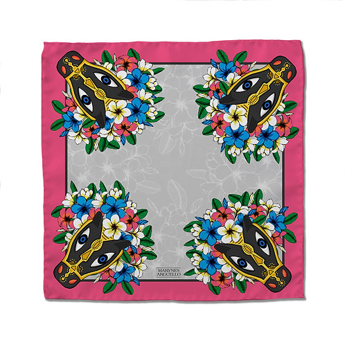 Silk Scarf - MR Pink - 50cm x 50cm