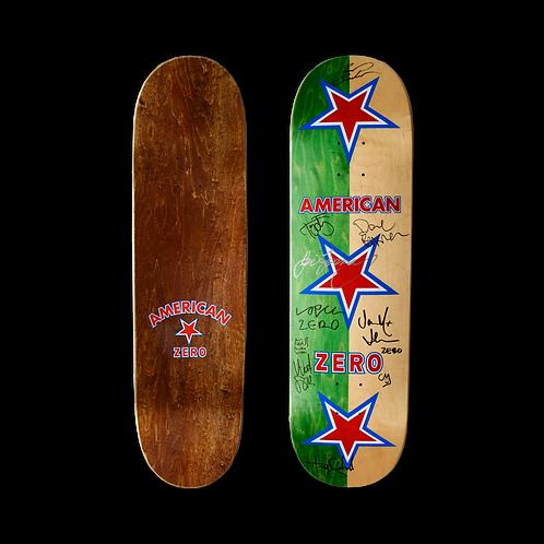 Zero Skateboards: Team - American Zero (Green/Natural) (Signed)