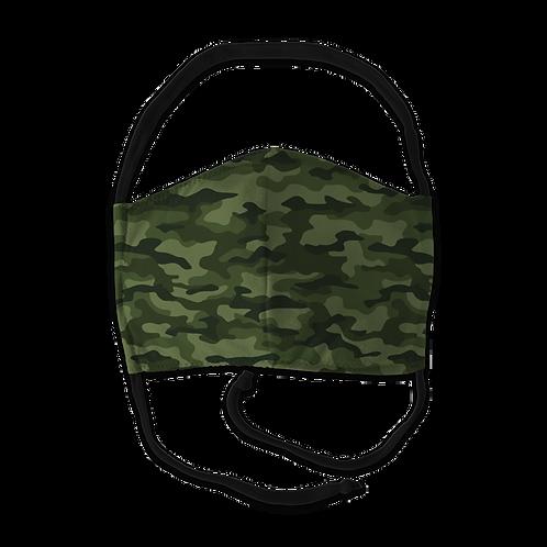 Face Mask - Green Camo Print
