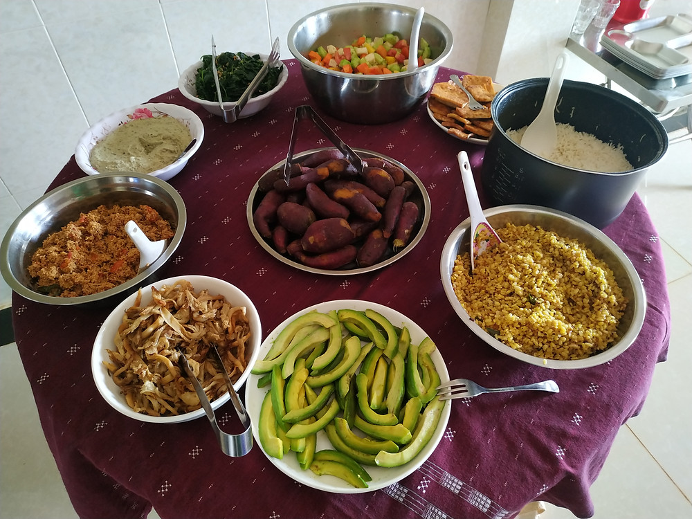 Vegan lunch, retreat center, vegan food