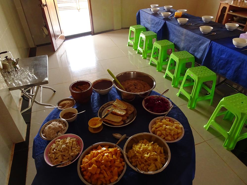 Vegan breakfast with tapioca