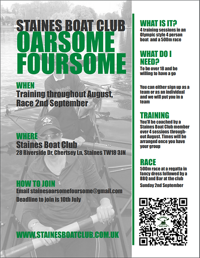 2018 Oarsome Foursome Event Poster