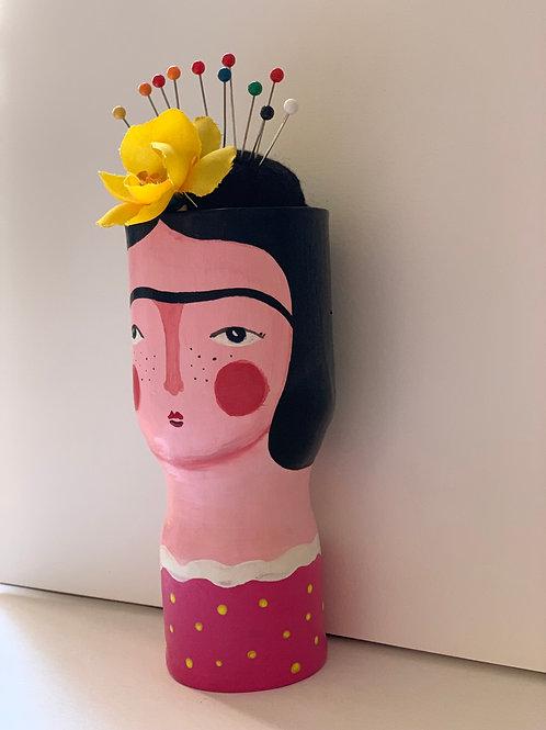 Alfiletero / Florero de Frida Rosa