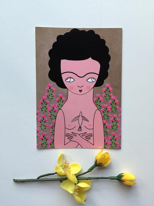 Postal Abrazo Floral