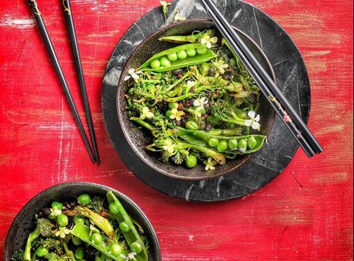 Broccoli black bean stir-fry