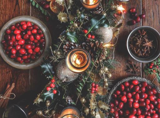 Christmas orange and cranberry sauce