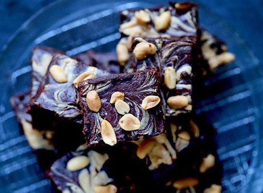 Skinnier Chocolate Peanut butter brownies