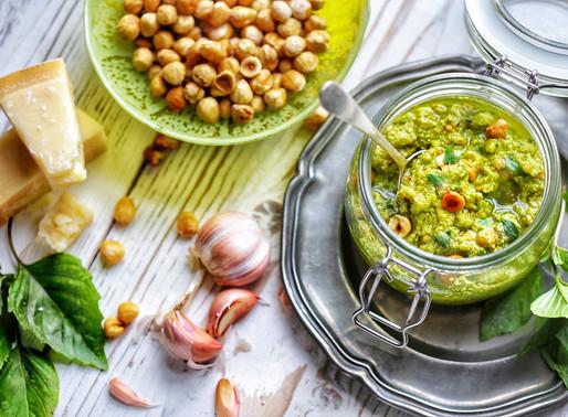 Hazelnut pesto, a twist on the traditional recipe