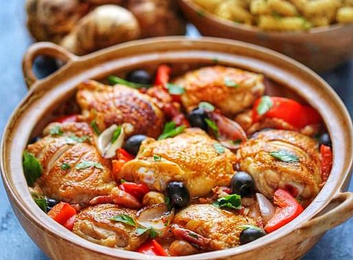 Italian chicken and red pepper casserole